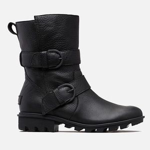 SOREL Phoenix Moto Black Leather Boots